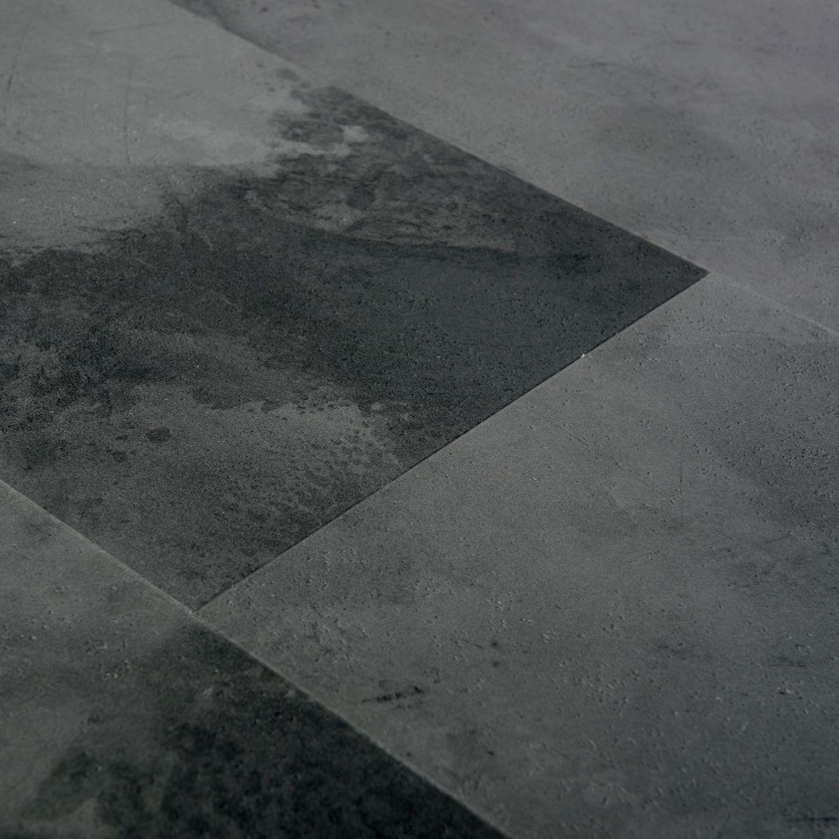 Panele winylowe podłogowe SPC z podkładem IXPE - Kafla Ciemny Beton