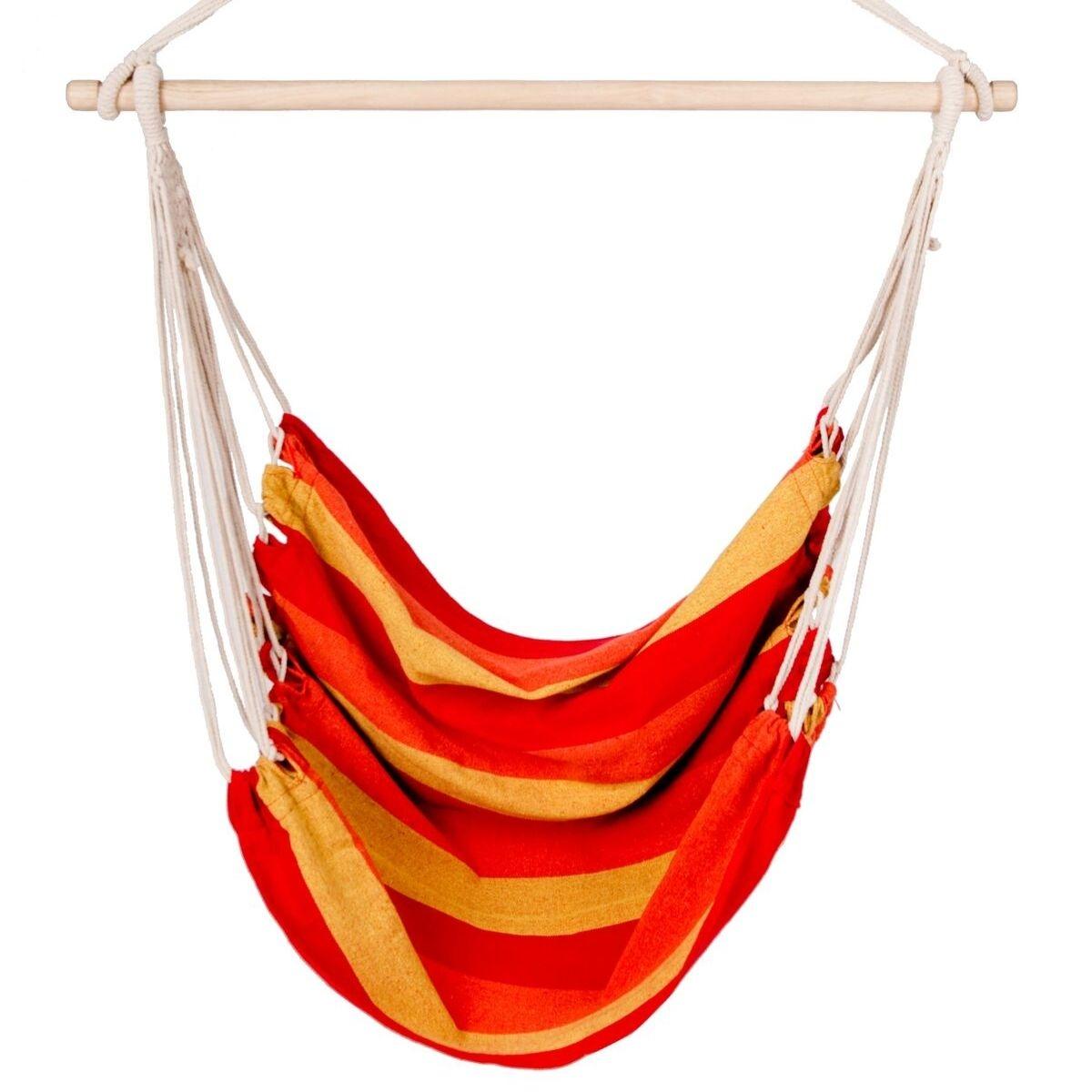 Hamak - Model Fotel - Kolor: Czerwono-Pomarańczowo-Żółty